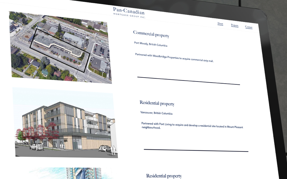 Customizable Mortgage Group website Projects page