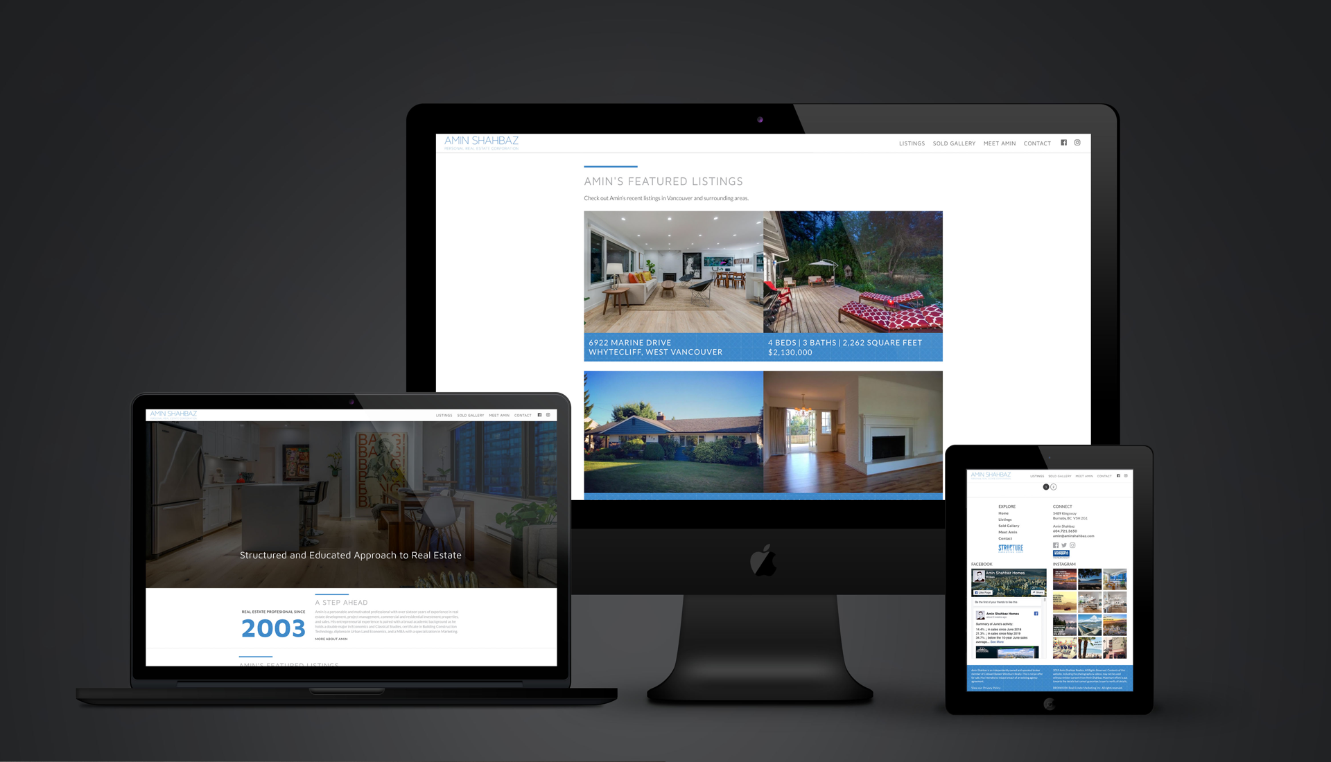 Amin Shahbaz real estate custom website design