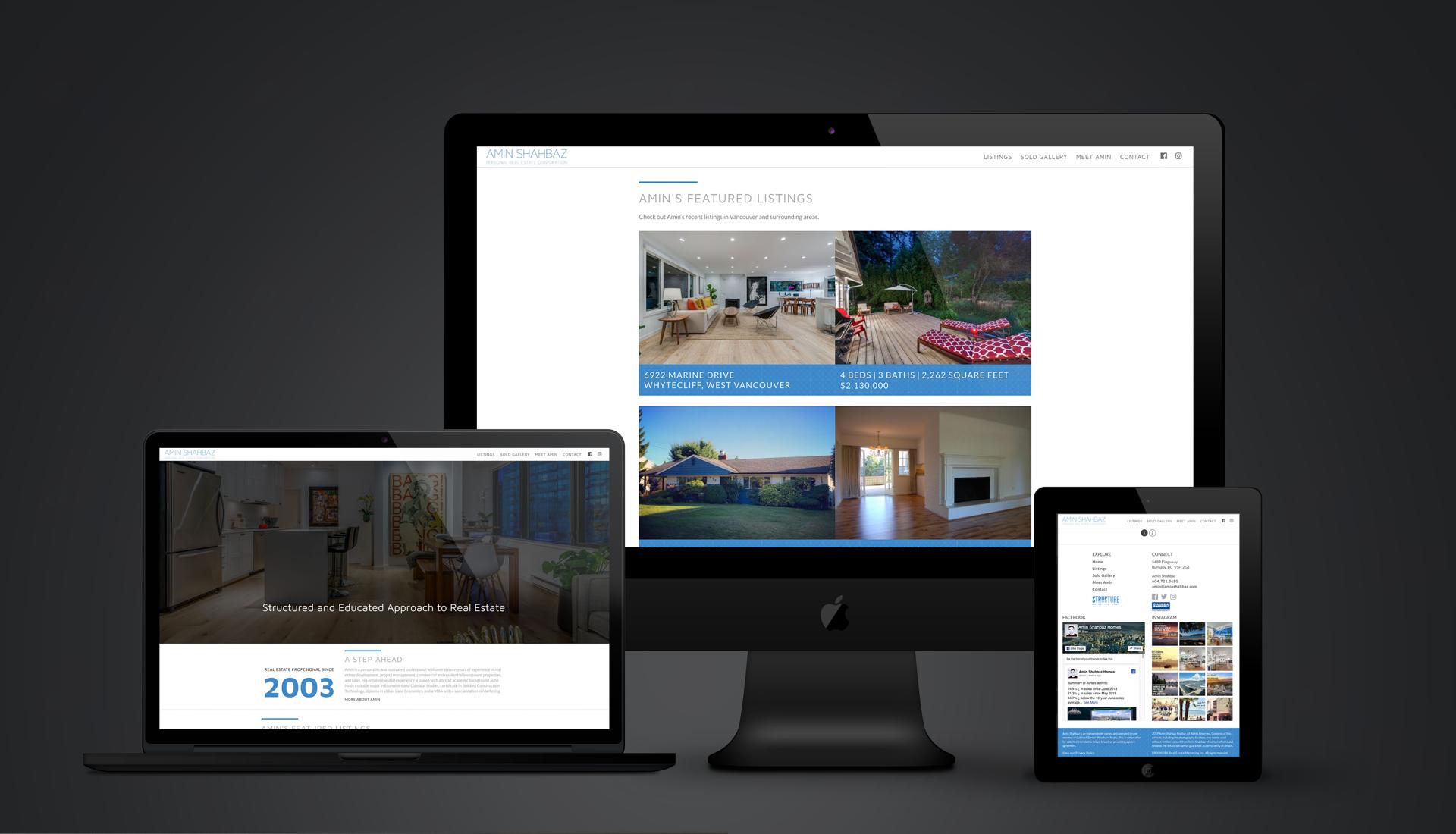 Amin Shahbaz real estate custom website design