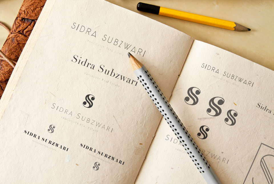 Sidra Subzwari Branding Logo sketches Real Estate