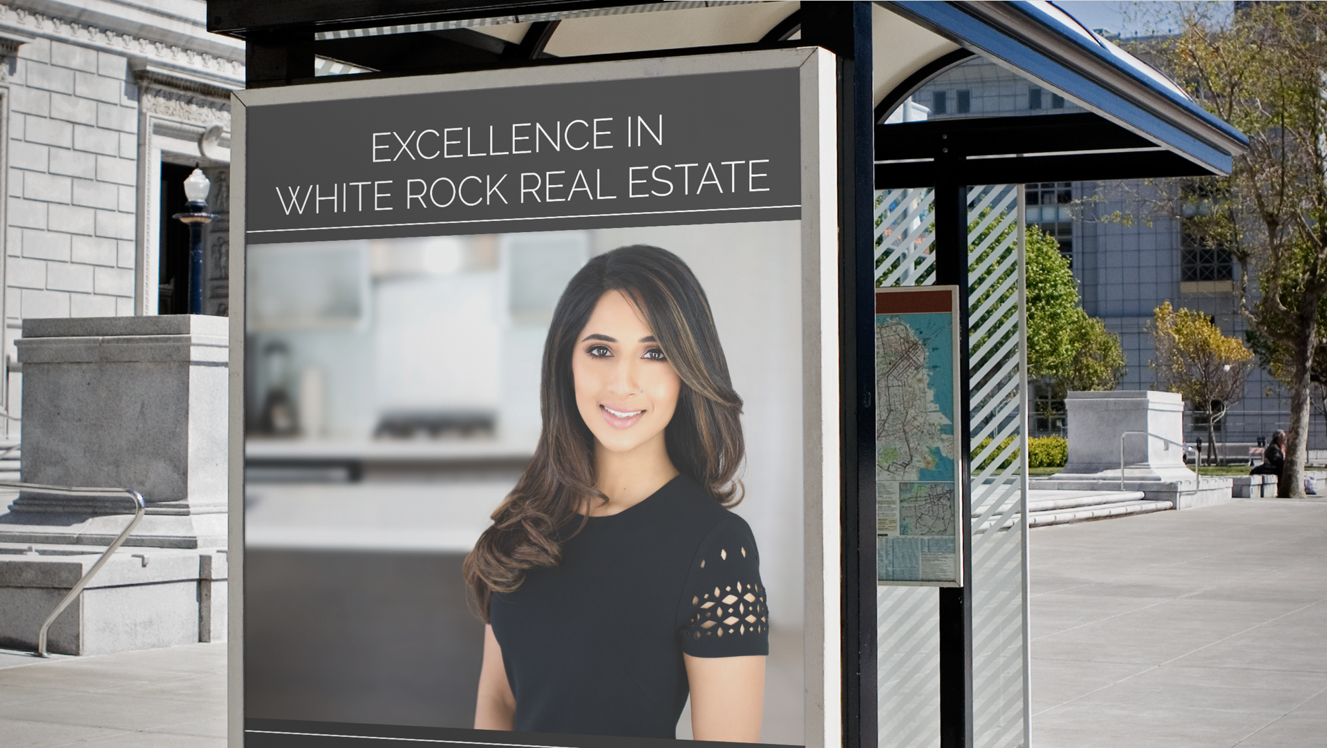 Bus Shelter Ad Luxury Millionaire Real Estate Realtor White Rock Sidra Subzwari