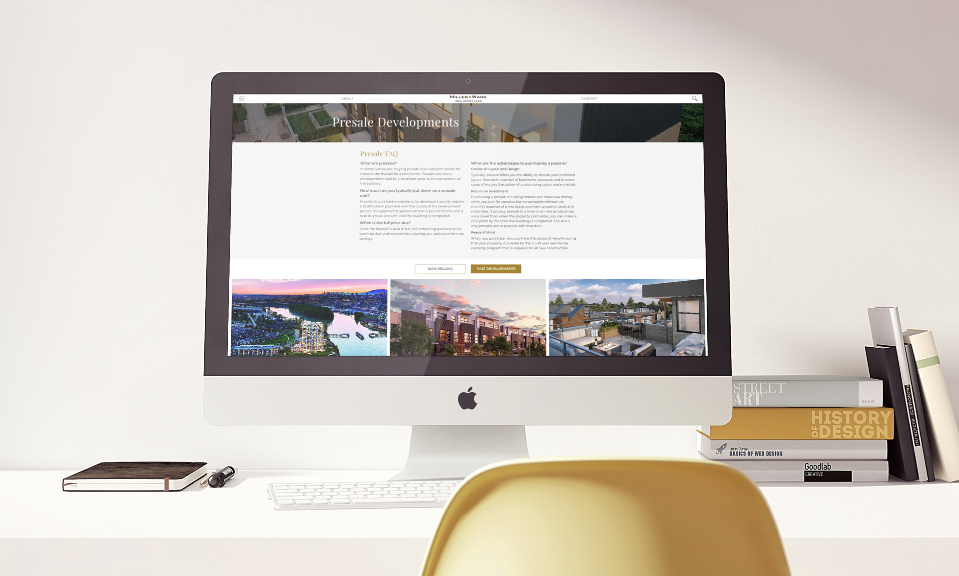 MillerWark Real Estate Team Vancouver iMac mockup