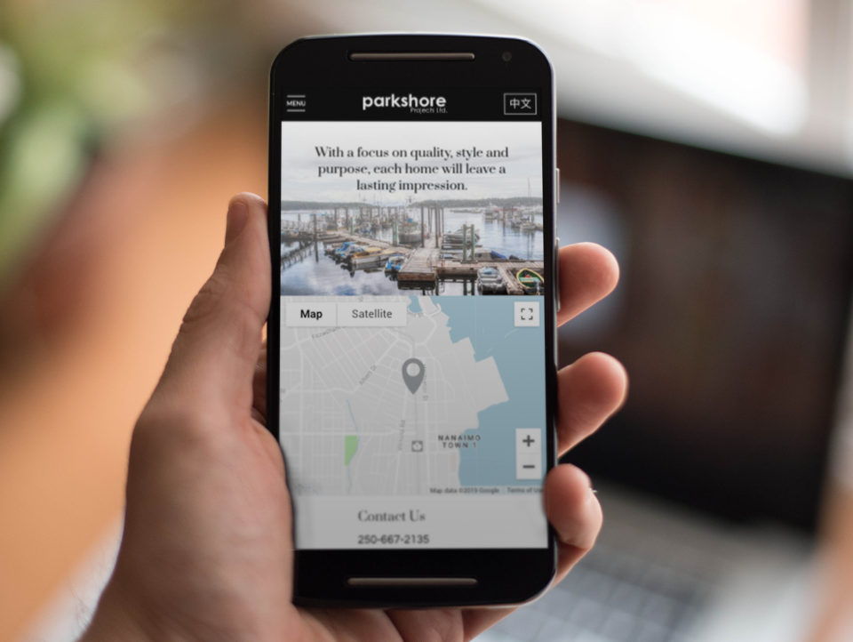 Mobile View Developer Website Parkshore Nanaimo BC