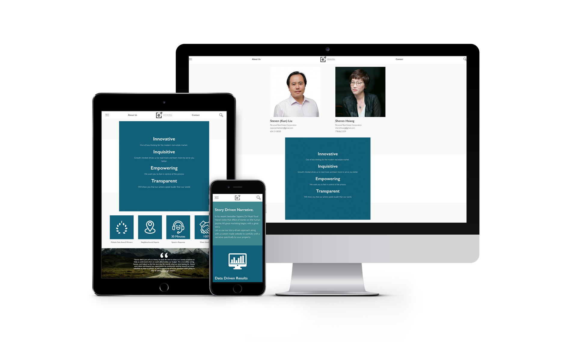 Custom Mobile Responsive website for Vancouver Real estate team
