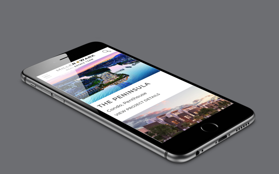 iPhone MillerWark Real Estate Team Mockup Website