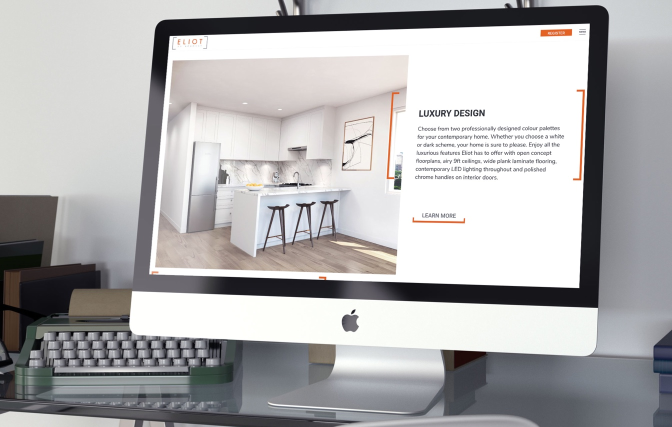 Eliot at Norquay Vancouver Project Marketing Website Design