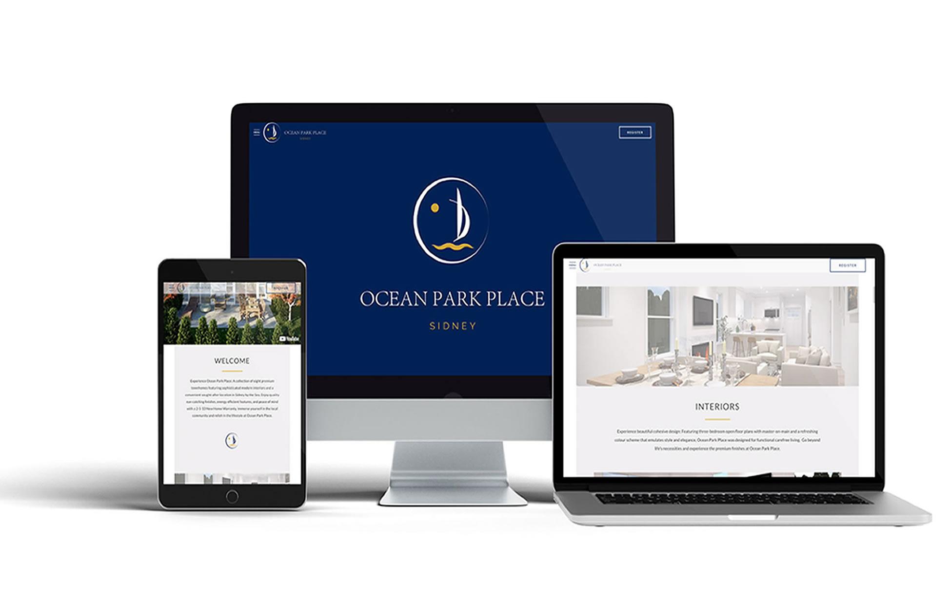 The Ocean Park Place Webpage
