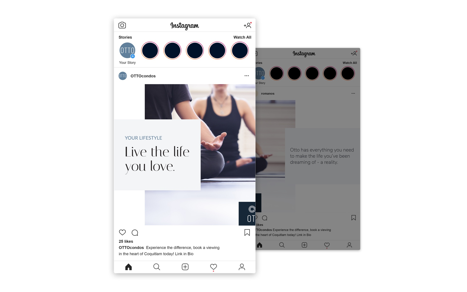 Eye-catching Instagram Post and Story Designs For the Condo Demographic