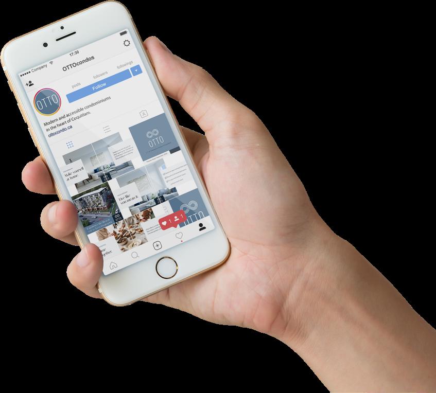 Custom Instagram and Facebook post design for Otto Presale Condos