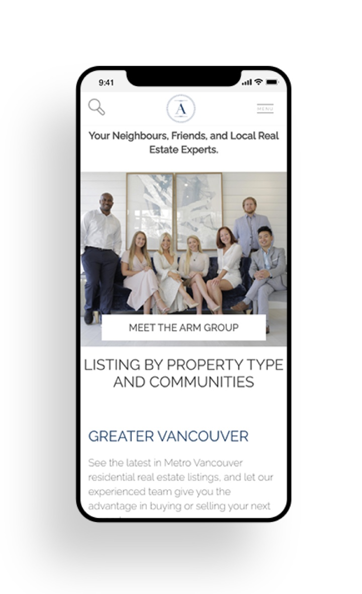 Vancouver Century 21 Realtor® Team Mobile Friendly Website