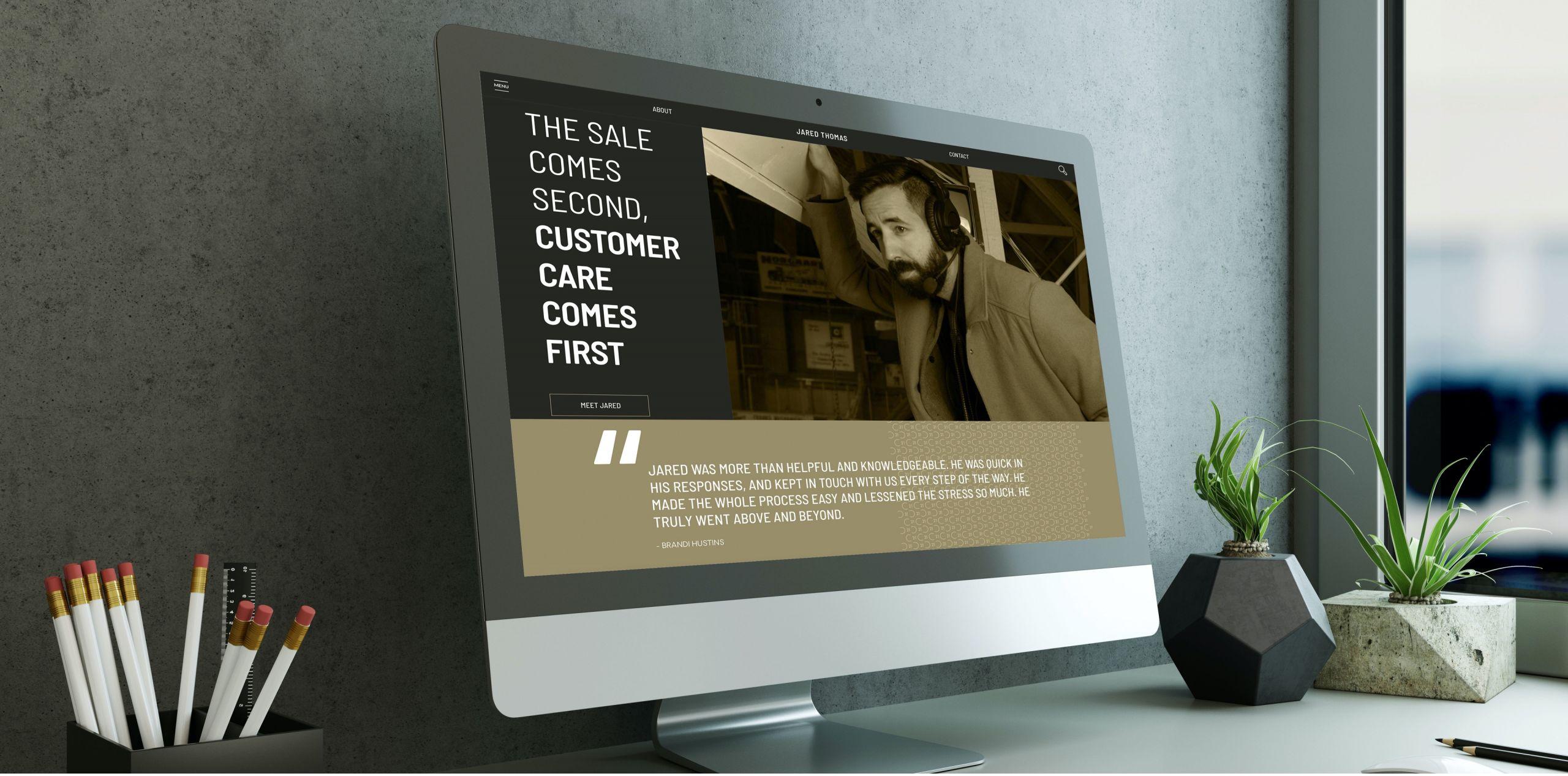 Custom Designed Homepage Merritt Realtor