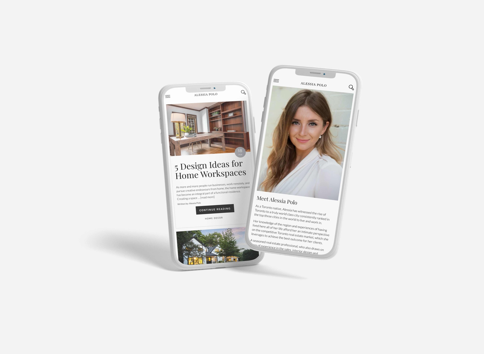 Mobile Showcase for Toronto Real Estate Agent