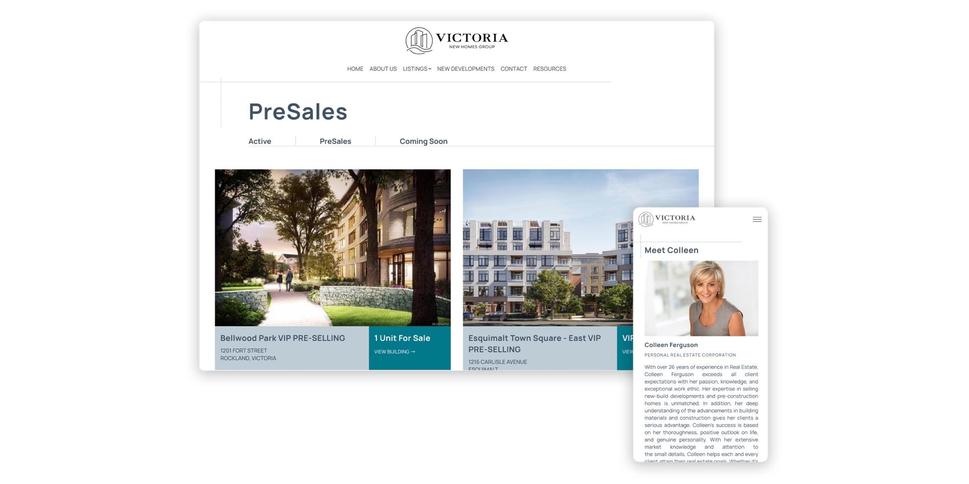Victoria Presale Realtor Custom Website
