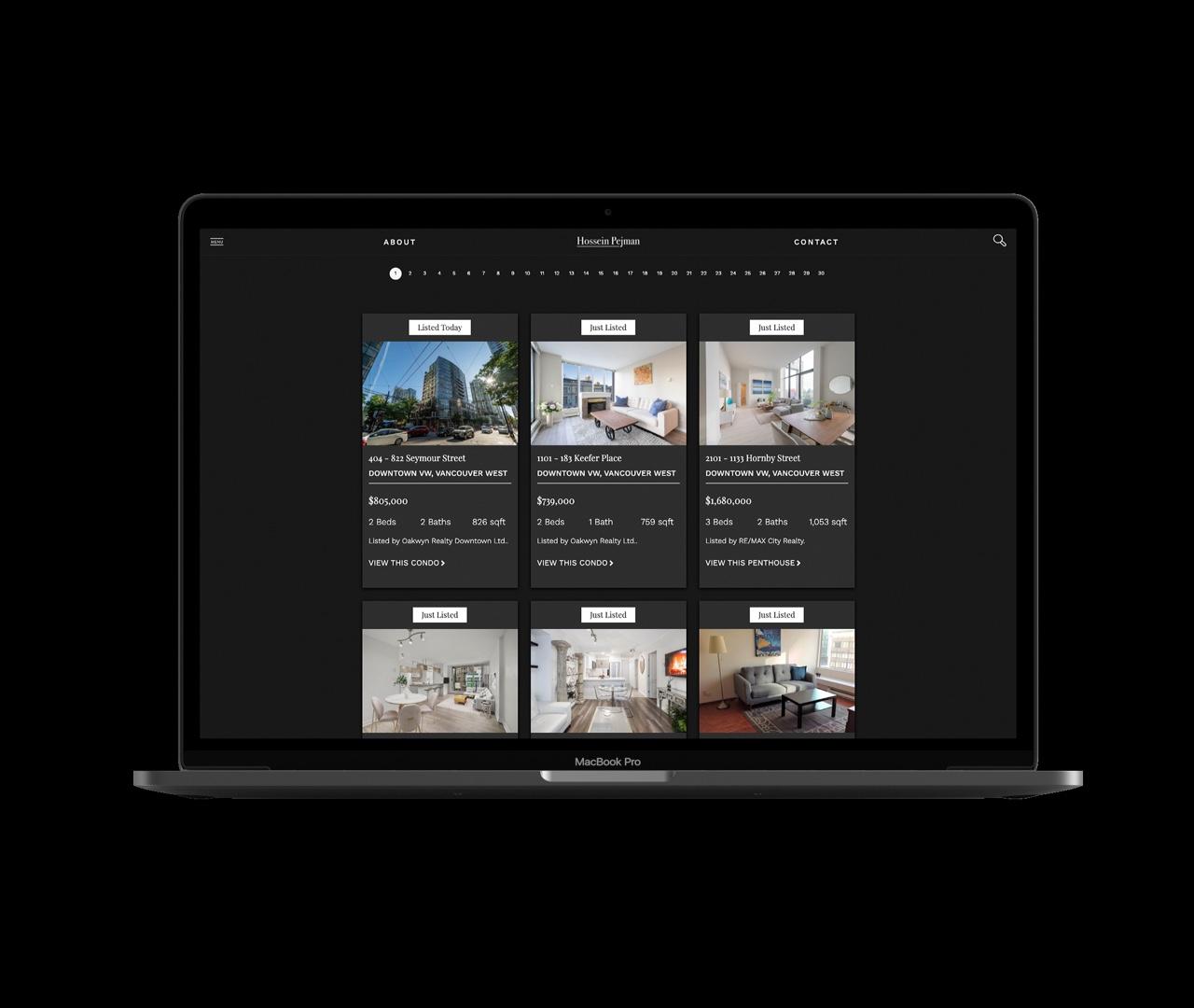 Custom Listing Gallery Page for CREA IDX