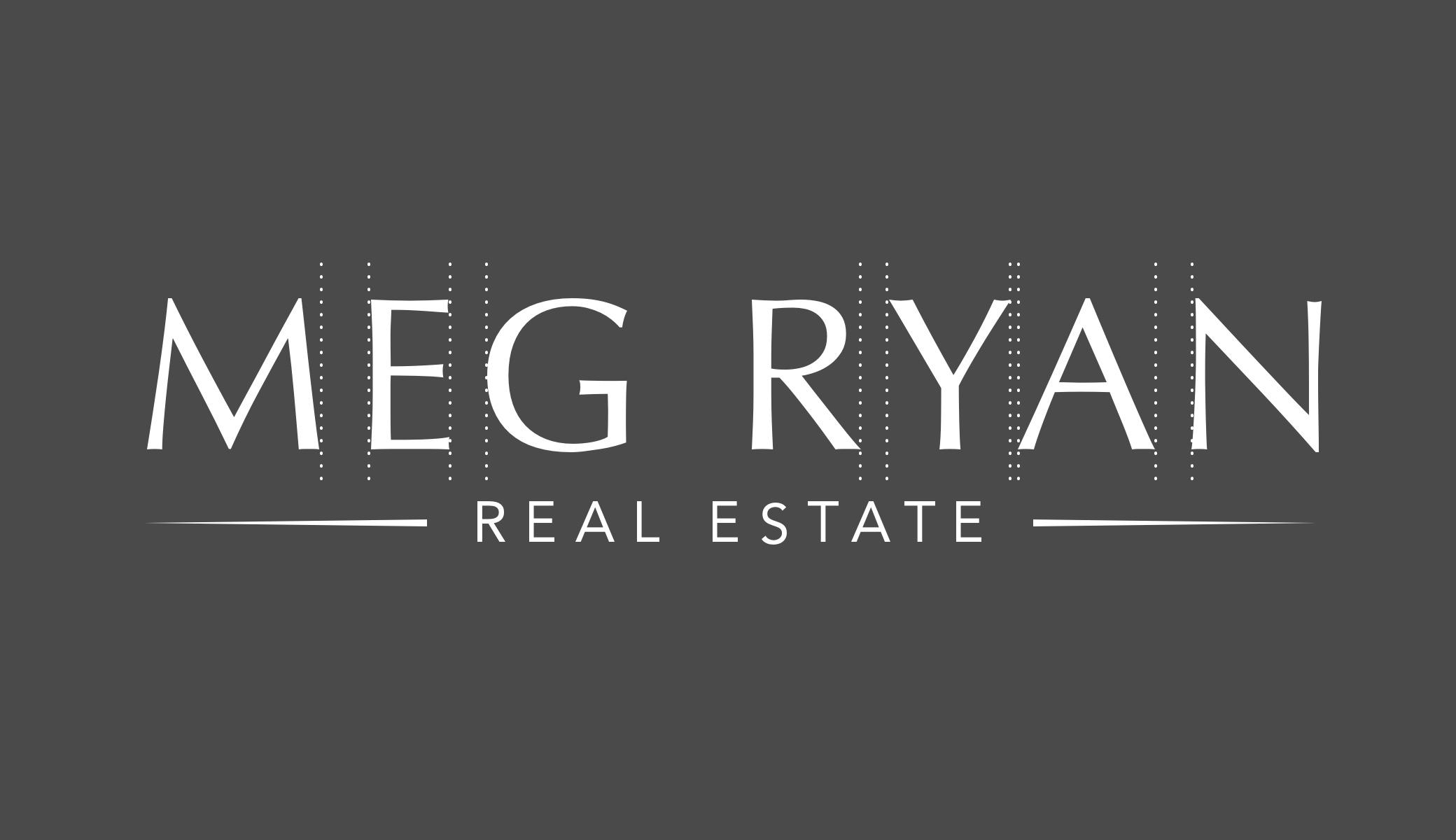 Boutique Type-Art Branding For Real Estate Agent Meg Ryan