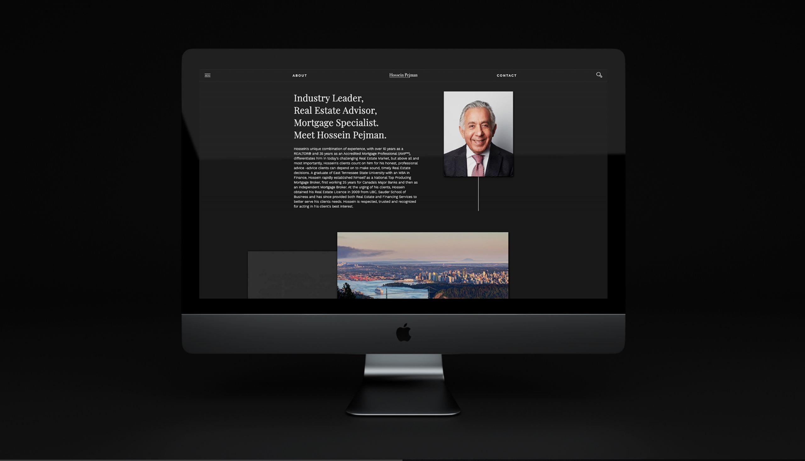 Custom designed website homepage for Real Estate Agent