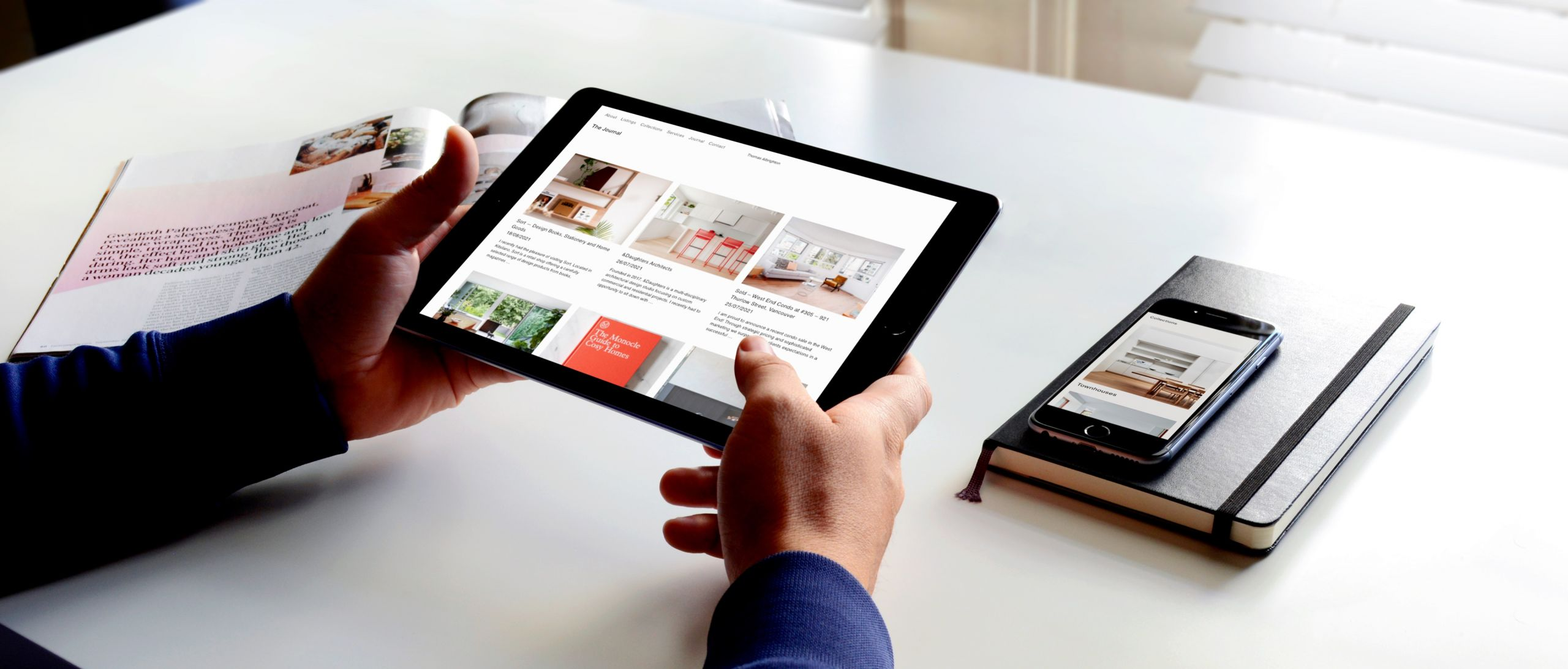 Perfect brand consistency on mobile tablet and desktop