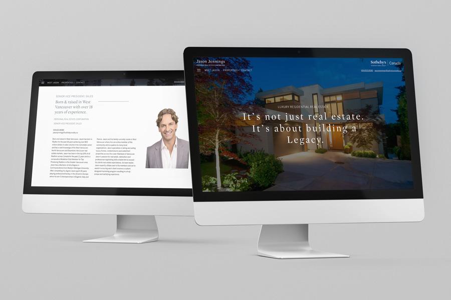 Website re-design for Vancouver legend Jason Jennings at Sotheby's